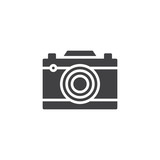 Photo camera vector icon. filled flat sign for mobile concept and web design. Camera simple solid icon. Symbol, logo illustration. Pixel perfect vector graphics - 207765690