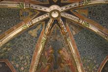 "Постер, картина, фотообои ""Deckengerippe in der Kirche in Aschbach"""