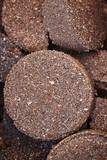 Close up picture of used coffee grounds, selective focus. - 207773041