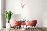 Restaurant interior with pink chairs - 207776005