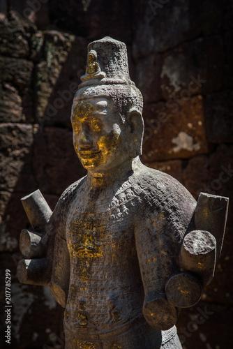 Fotobehang Thailand stone Buddha statue in Mueang Sing Historical Park in Kanchanaburi, Thailand.