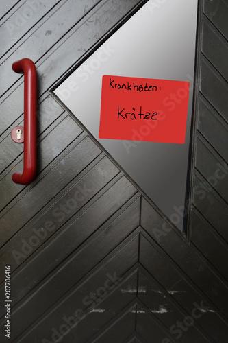 Kindergartentür, h.