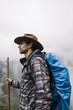 Hiker in Machu Picchu, Peru