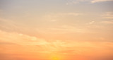 Panoramic sunset sky