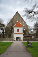 ruins of the monastery of Saint Brigitta (Pirita) in Tallinn in the old town
