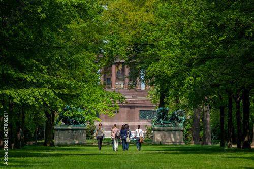 Fotobehang Berlijn Tiergarten in Berlin
