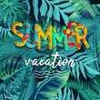 Summer vacation background vector. Summer holidays and beach holidays.