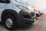 minibuses and vans outside - 207806092
