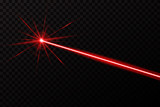 Creative vector illustration of laser security beam isolated on transparent background. Art design shine light ray. Abstract concept graphic element of glow target flash neon line - 207817201