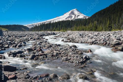 Fotobehang Bergrivier White River, Mount Hood National Forest, Oregon