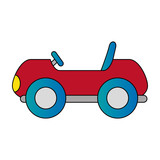 little cart toy icon vector illustration design