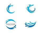 Water Wave spash symbol and icon Logo Template - 207841425
