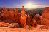Thor's hammer in Bryce Canyon National Park in Utah USA during sunrise. - 207842686