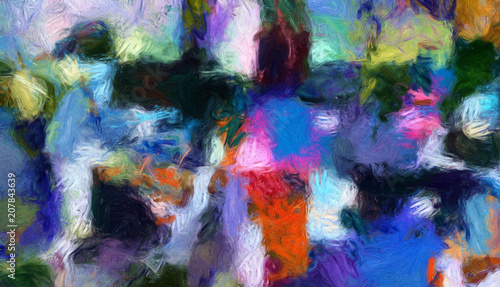 Hand drawn abstract background template for flyer, poster, banner, invitation, business cards and other printed matter. Creative pattern for graphic design production. Art painting wallpaper © Avgustus