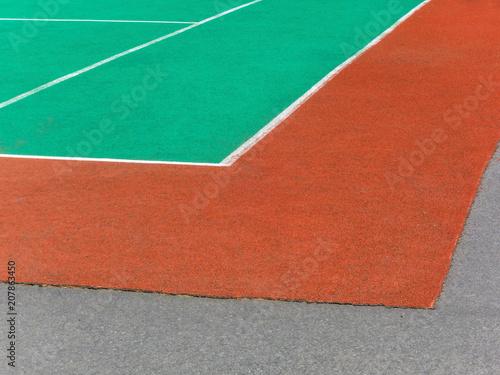 Fotobehang Tennis Tennis field. Big tennis. Fragment