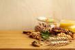 Leinwanddruck Bild - Healthy breakfast on the table