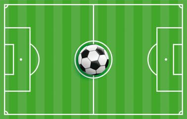 Grüne Fußball Taktiktafel