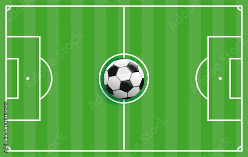 Fototapeta Grüne Fußball Taktiktafel
