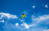 Kite flying in the sky among the clouds - 207890843