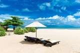 Beautiful beach. Summer holiday and vacation concept background. Tourism and travel - 207891486