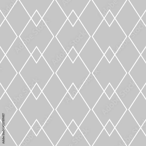 Gray and white geometric monochrome seamless pattern - 207891487