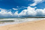 Sea view from tropical beach with sunny sky. Summer paradise beach - 207892244