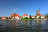 cathedral in tumski island in wroclaw, lower silesia in poland