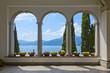 Schöner Ausblick auf den Comer See aus der Terrasse der Villa Monastero