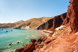 Red beach on Santorini island, Greece.