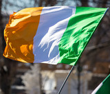 Flag of Ireland in the open air
