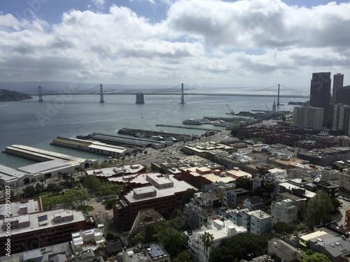 Fotobehang San Francisco San Francisco. Vue sur downtown depuis la Coit Tower