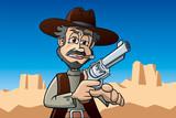 Revolverheld im Monument Valley, Arizona, USA, Cartoon, Szene - 207912014