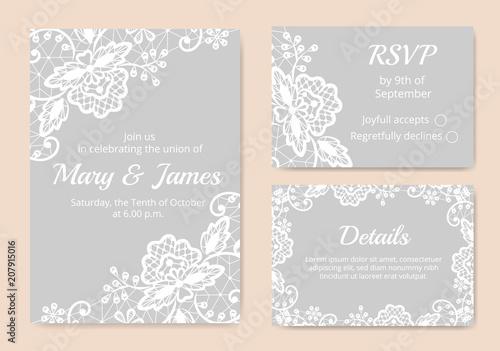 Set of wedding cards - 207915016