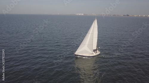 Fotobehang Zeilen Boat sailing - France