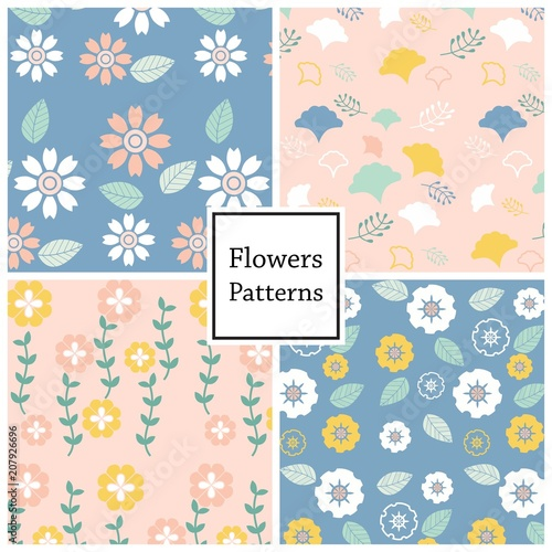 Fototapeta flower vector pattern for web page , background or book cover