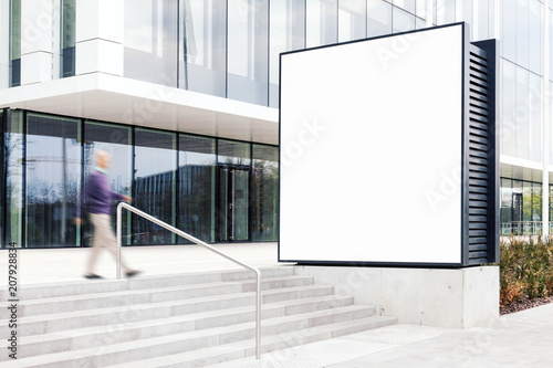 Outdoor Billboard Mockup With White Copy E To Add Company Names And Logos In Modern Business