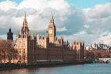 Big Ben and Houses of parliament at day, London, UK - 207936838