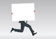 pancarte - entreprise - présentation - homme -courant - fond - arrière plan - poster - panneau