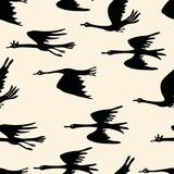 Background of flying geese