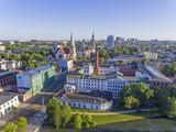 Łódź, Polska. Widok na Białą Fabrykę. - 207964439