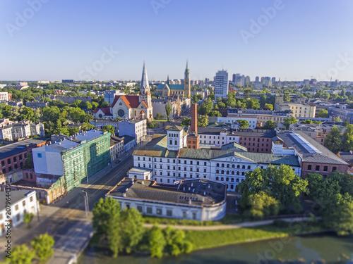 Fototapeta Łódź, Polska. Widok na Białą Fabrykę.