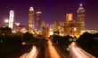 Atlanta skyline by night, Georgia, USA