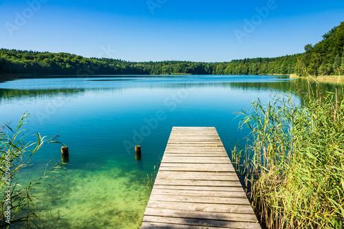 Landschaft am Trünnensee an der Mecklenburger Seenplatte - 207969656