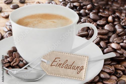 Kaffee  -  Einladung