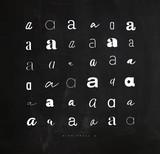 Set symbol a for letters chalk - 207976255