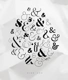Poster symbol ampersand - 207976279