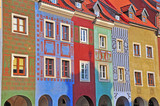 Coloful houses of Poznan