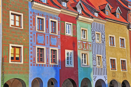 Coloful houses of Poznan