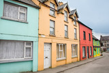 Colorful houses in Kenmare, Ireland - 207988608