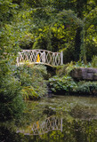 Bridge in Swiss Garden in Old Warden Park located in Biggleswade on the River Ivel in Bedfordshire, England - 207993220